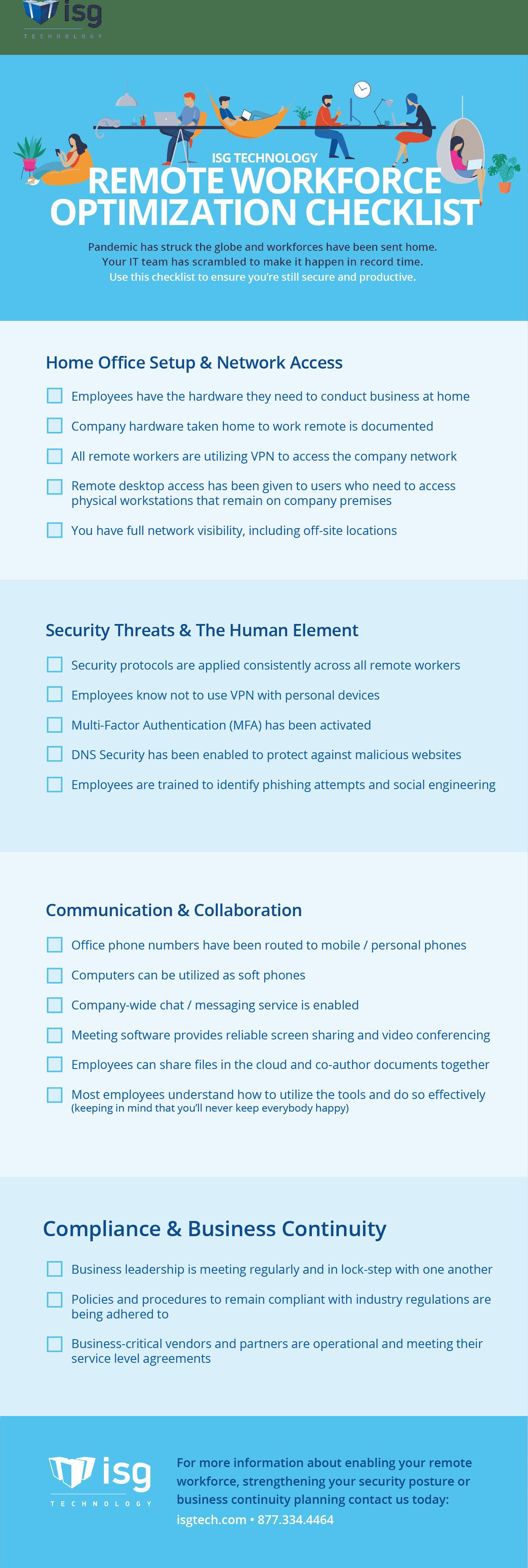 Remote Workforce Checklist